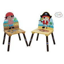 Fantasy Fields Kids Pirates Island Chair (Set of 2)
