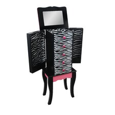 Teamson Kids -Fashion Prints Zebra Jewelry Armoire
