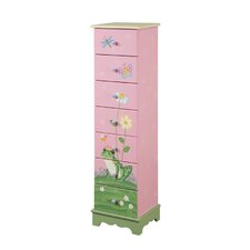 Open Box Price Magic Garden 7 Drawer Cabinet in Pink
