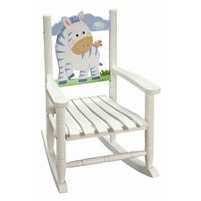 Sunny Safari Zebra Kid's Rocking Chair