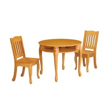 Windsor 3 Piece Round Table and Chair Set