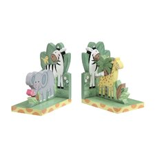 <strong>Teamson Kids</strong> Sunny Safari Book End (Set of 2)