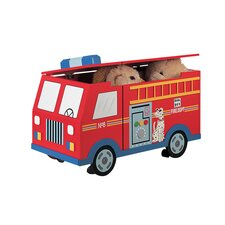 Wings and Wheels Fire Engine Trunk on Wheels Toy Box