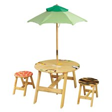 Sunny Safari Kids' 4 Piece Table and Chair Set