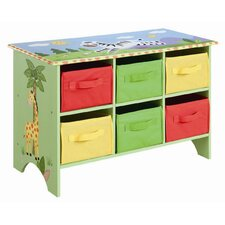 <strong>Teamson Kids</strong> Sunny Safari Storage Cubby Base Set