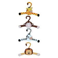 <strong>Teamson Kids</strong> Sunny Safari Hangers (Set of 4)