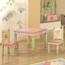 <strong>Teamson Kids</strong> Magic Garden Kids' 3 Piece Table and Chair Set