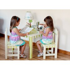 <strong>Teamson Kids</strong> Alphabet Kids 3 Piece Table and Chair 3 Piece Set