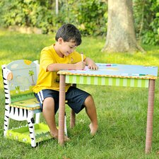 <strong>Teamson Kids</strong> Sunny Safari Kids' 3 Piece Table and Chair Set