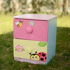Magic Garden 2 Drawer Nightstand