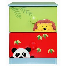<strong>Teamson Kids</strong> Sunny Safari 2 Drawer Nightstand