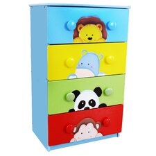 <strong>Teamson Kids</strong> Sunny Safari 4 Drawer Chest