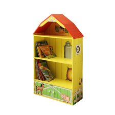 <strong>Teamson Kids</strong> Happy Farm Room Wooden Barn Bookcase