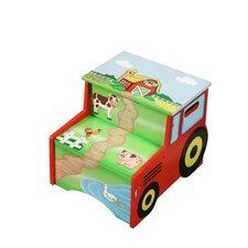 Happy Farm Room Kid's Step Stool