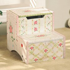 Crackled Rose Room 2-Step Girls Step Stool