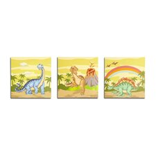 <strong>Teamson Kids</strong> Dinosaur Kingdom Wooden Wall Art 3 Piece Set