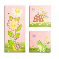 <strong>Teamson Kids</strong> Magic Garden Wooden Wall Art 3 Piece Set