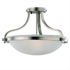 Eternity 3 Light Semi Flush Mount