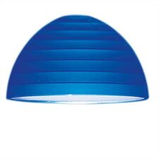 Cobalt Glass Lamp Shade with Etched Step Design  for Ambiance Track Lighting Pendants
