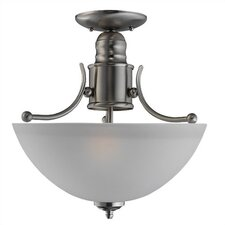 Evansville 2 Light Semi Flush Mount