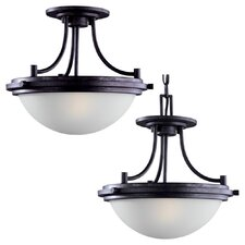 Winnetka 2 Light Convertible Inverted Pendant