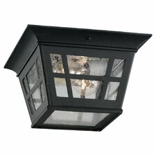 <strong>Sea Gull Lighting</strong> Herrington 1 Light Outdoor Flush Mount