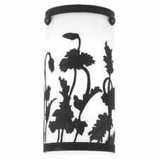 Ambiance Cased Glass Shade with Engraved Wildflower Pattern