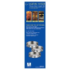 <strong>Sea Gull Lighting</strong> Ambiance Disk Light Kit with Housing in Brushed Nickel