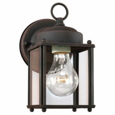 <strong>Sea Gull Lighting</strong> Outdoor 1 Light Square Wall Lantern