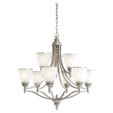Laurel Leaf 9 Light Chandelier