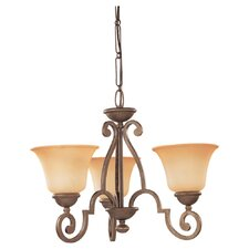 <strong>Sea Gull Lighting</strong> Brandywine 3 Light Chandelier