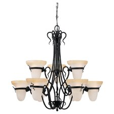 <strong>Sea Gull Lighting</strong> Saranac Lake 9 Light Chandelier