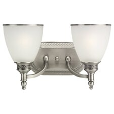 Laurel Leaf 2 Light Vanity Light