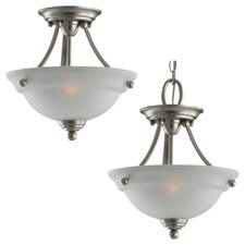 Wheaton 2 Light Semi Flush Mount