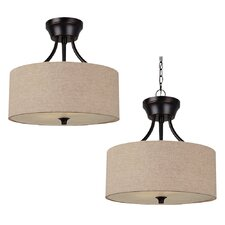Stirling 2 Light Semi Flush Mount