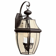 <strong>Sea Gull Lighting</strong> Classic 3 Light Outdoor Wall Lantern