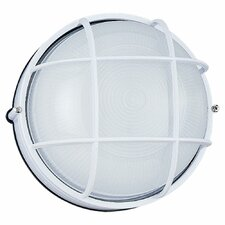 Round Commercial 1 Light Outdoor Wall Sconce