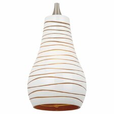 "5.38"" Ambiance Bianca Glass Drum Pendant Shade"