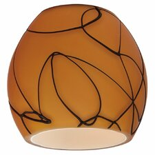 "2.88"" Ambiance Transitions Glass Bell Pendant Shade"