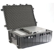 "Transport Case with Foam: 27.13"" x 37.5"" x 14.37"""