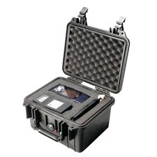 "Equipment Case with Foam: 9.5"" x 10.63"" x 6.88"""