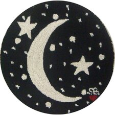 "<strong>Susan Branch Home</strong> Starry Night Round: 15"" x 15"" - Black Moon Chair Pad"