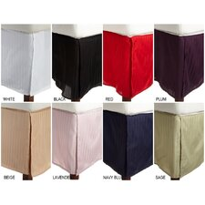 <strong>Simple Luxury</strong> 300 Thread Count Egyptian Cotton Stripe Bed Skirt