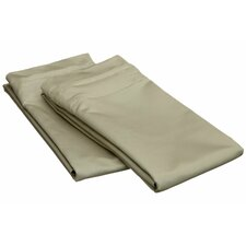 1500 Thread Count Egyptian Cotton Solid Pillowcase Pair (Set of 2)