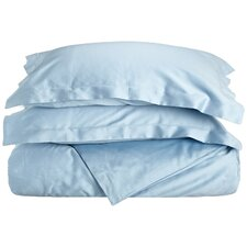 400 Thread Count Egyptian Cotton Solid Duvet Cover Set
