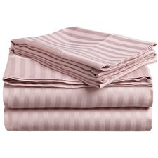 300 Thread Count Egyptian Cotton Stripe Olympic Queen Sheet Set