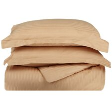 300TC Egyptian Cotton Stripe Duvet Cover Set