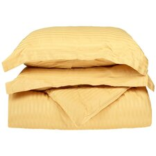 300 Thread Count Egyptian Cotton Stripe Duvet Cover Set