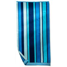 <strong>Simple Luxury</strong> Striped Beach Towel