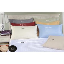 <strong>Simple Luxury</strong> Vanessa Microfiber Stripe Pillowcase Set